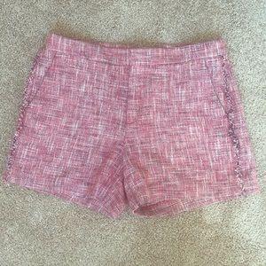 Pink and navy tweed shirts from Banana Republic